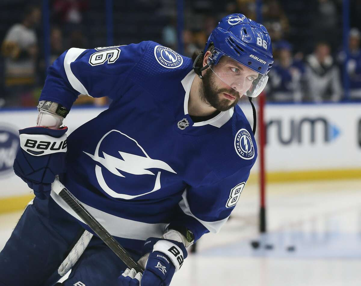 Tampa Bay Lightning winger Nikita Kucherov is expected to miss the entire regular season following hip surgery. (Dirk Shadd/Tampa Bay Times/TNS)