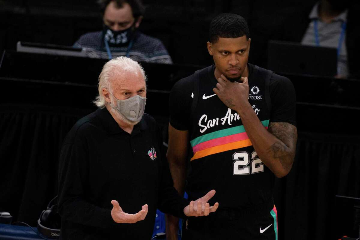 """Gregg Popovich says of the Spurs' new Fiesta-themed uniforms, """"No matter which way you look at it, it's nice. It's a nice color combination. It's fun. It sort of fits the personality of our city."""""""