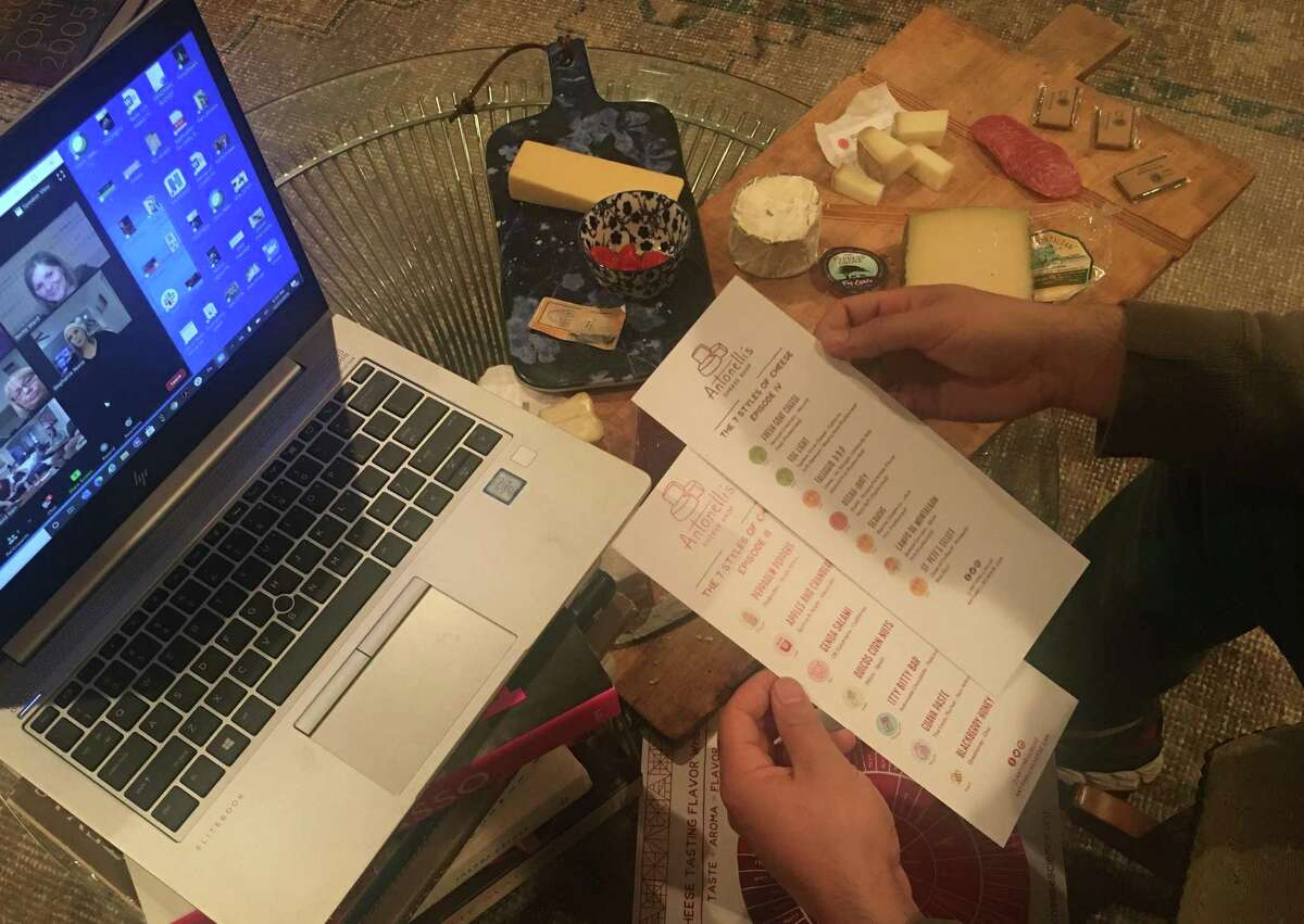 Host a virtual cheese tasting for your holiday Zoom party.