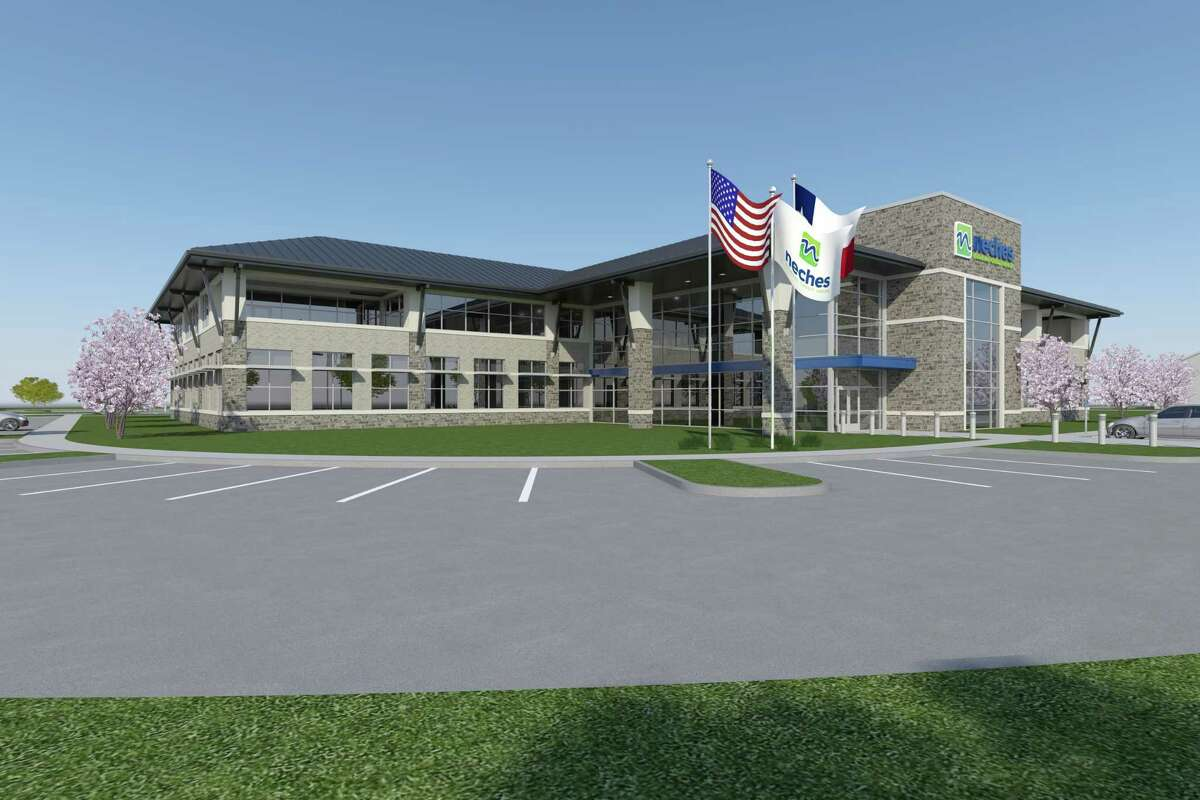 Rendering of Neches Federal Credit Union headquarters in Port Neches. Groundbreaking was in 2019.