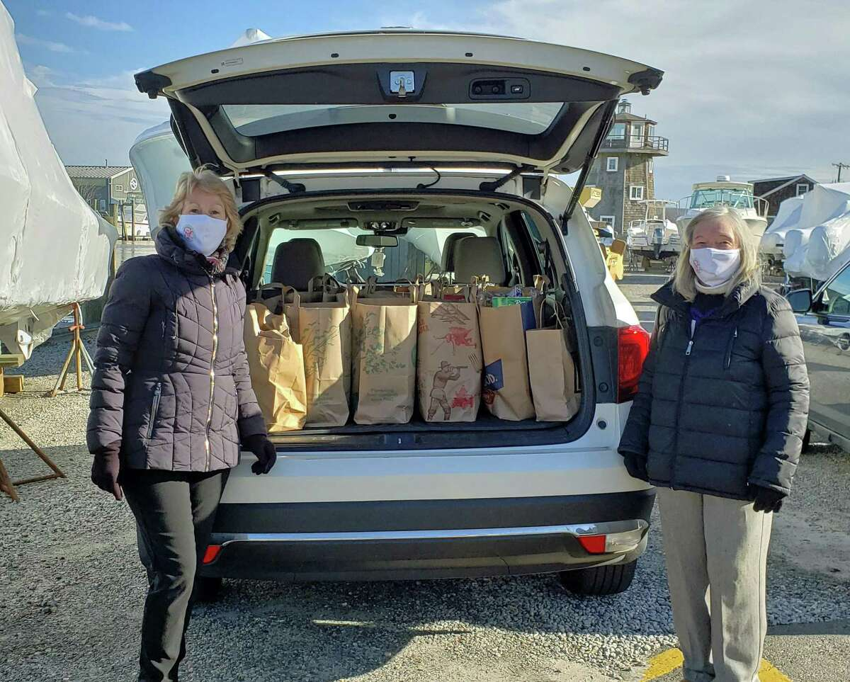 Essex Garden Club members recently collected nonperishable food items for the Shoreline Soup Kitchens and Pantries