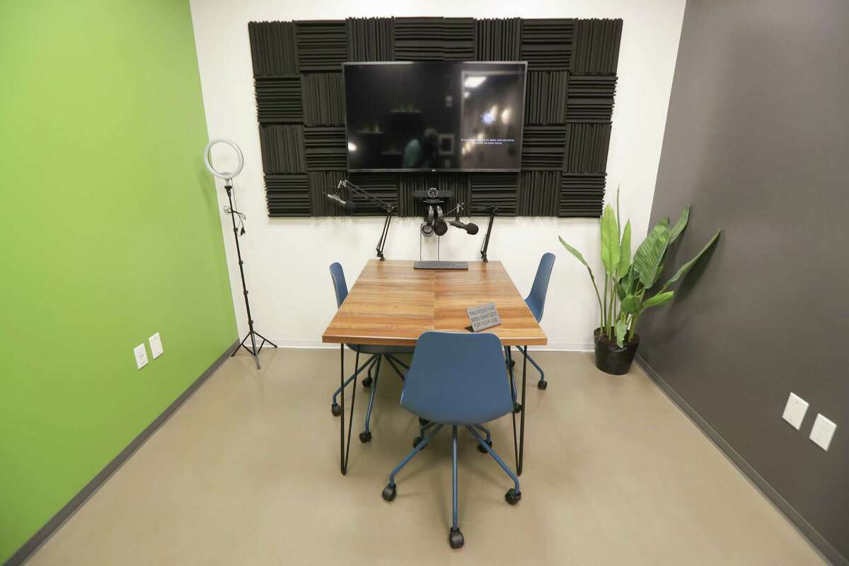 A podcast studio in WorkSuites which is preparing to open a 22,607-square-foot location at 5718 Westheimer in the Galleria area Tuesday, Dec. 22, 2020, in Houston.