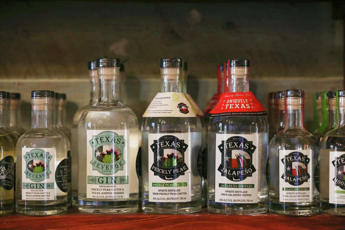 Several styles of prickly pear cactus spirits are made and sold by Hill Country Distillers.