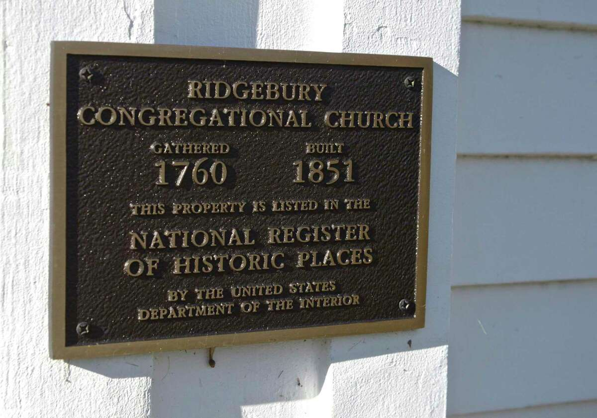 Pictured is one part of the Ridgebury Congregational Church in the Ridgebury neighborhood of Ridgefield. The church is having Christmas services at its Meetinghouse via the Zoom application.