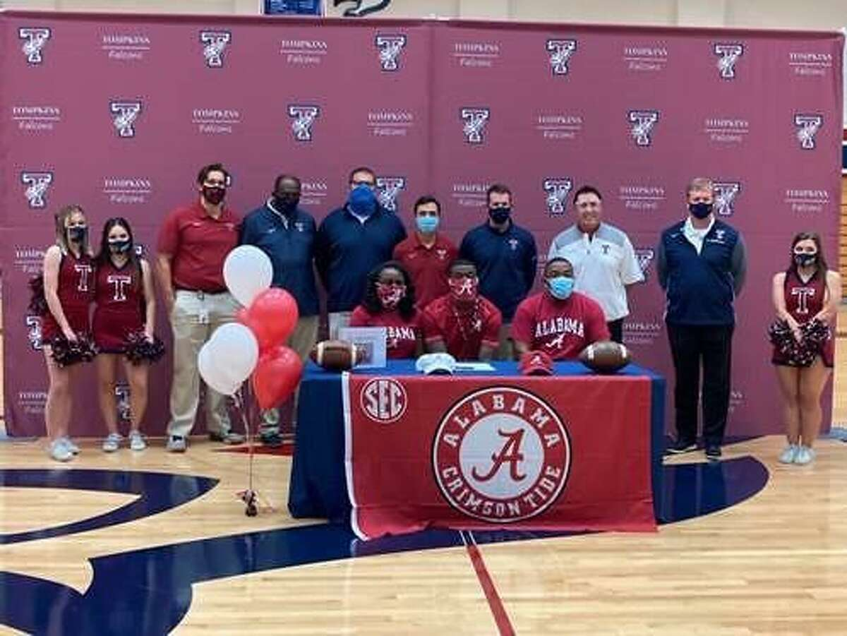 Tompkins celebrated a December national signing day, with senior Jalen Milroe signing a football scholarship with the University of Alabama.