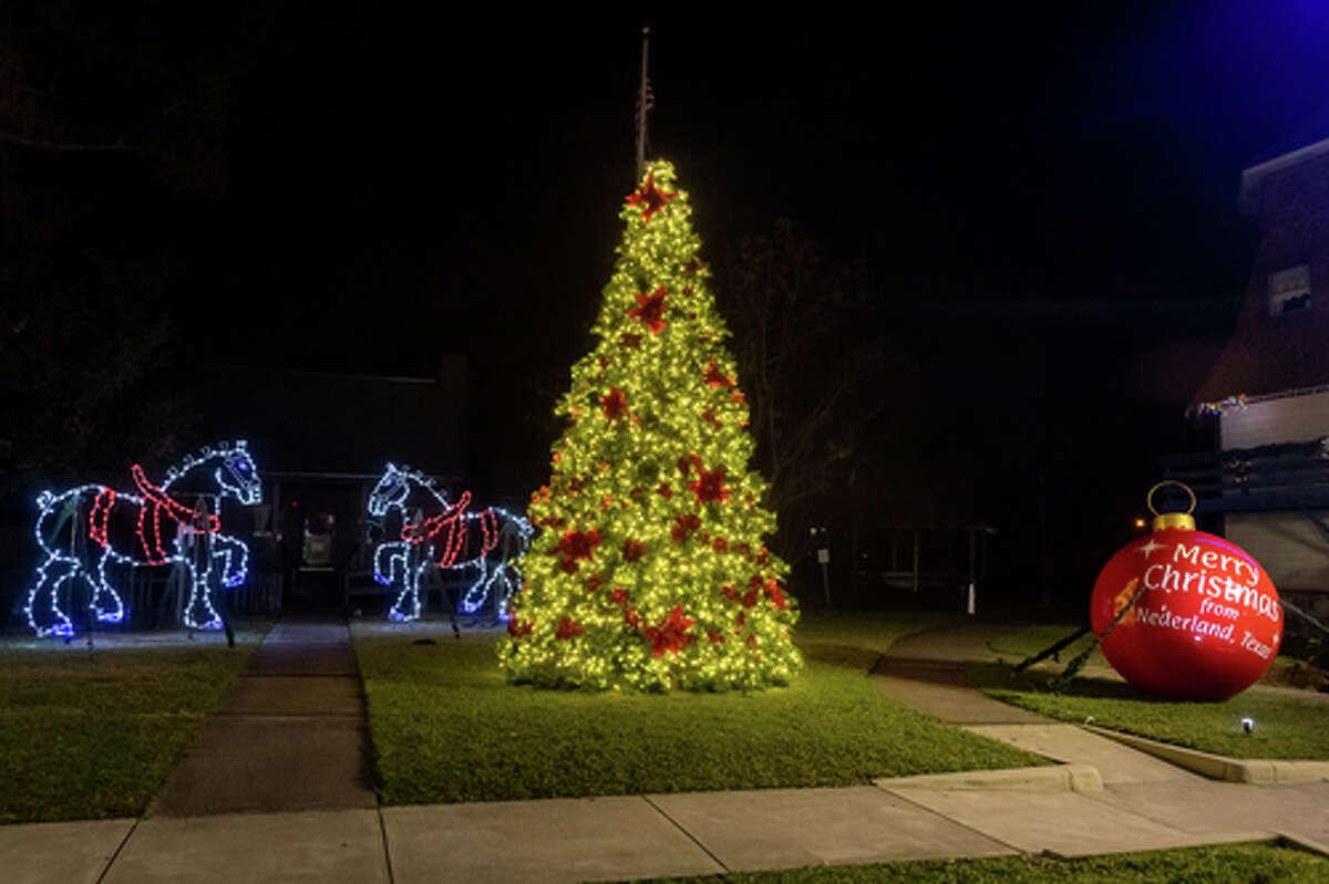 The Nederland Christmas display on Boston Avenue.