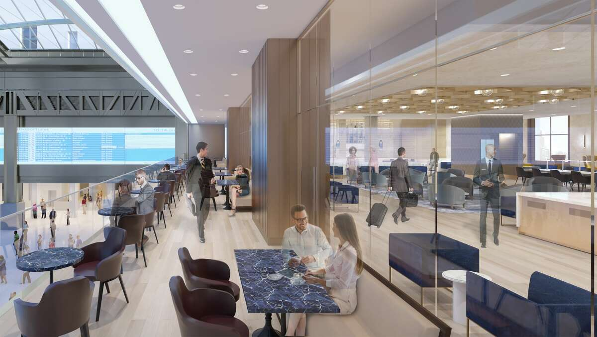 A newly designed Metropolitan Lounge will accommodate first-class passengers. Wifi will be available throughout the station. (Courtesy of Amtrak)