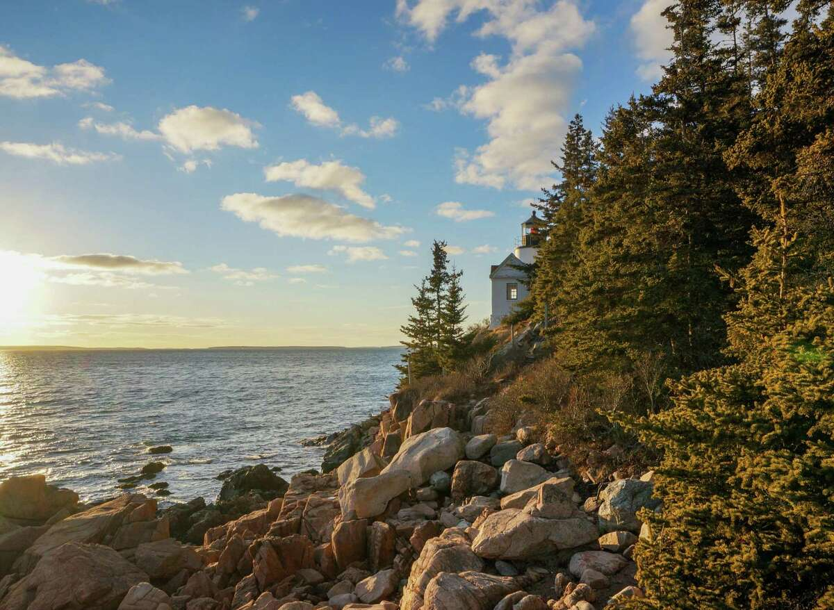 The Bass Harbor Head Lighthouse in Maine's Acadia National Park, where Conor Knighton started his journey.