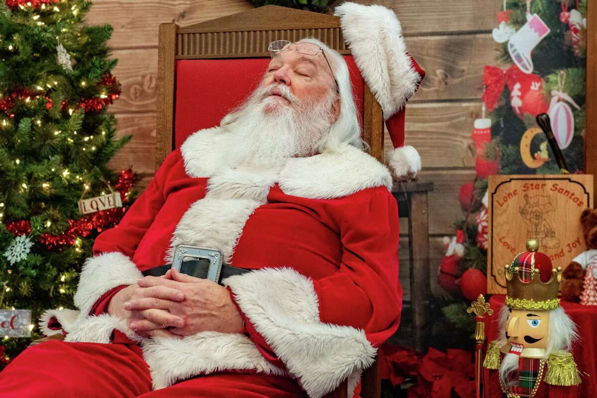 Santa relaxes after a long night of bringing toys to all the good girls and boys. This is the eighth year that Clem Webb has brought Santa to Beaumont for Santa By Appointment. Photo made on December 22, 2020. Fran Ruchalski/The Enterprise