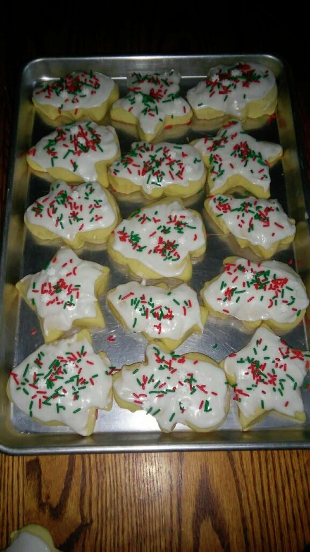 Daughter Verena and the grandchildren carry on with the tradition of making cut-out cookies for Christmas. (Courtesy photo)