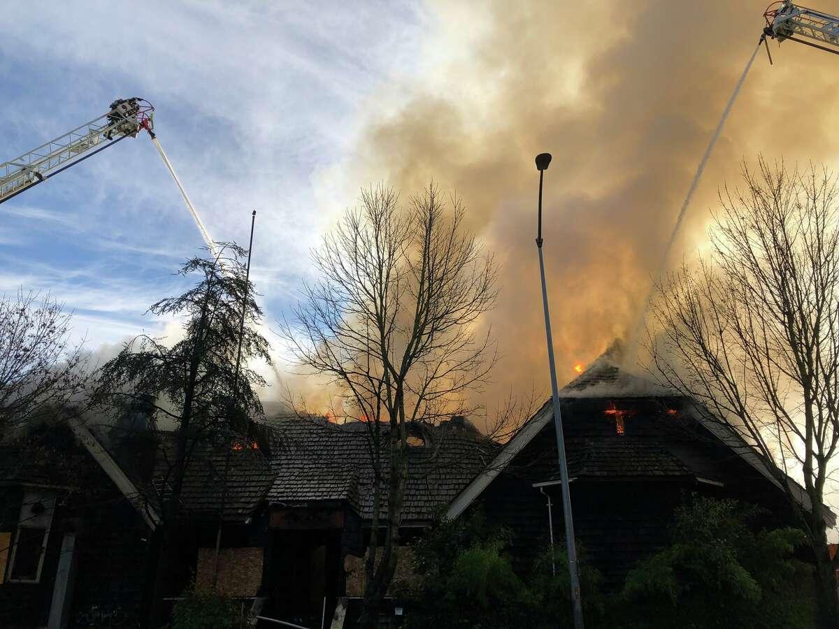 Crews battle fire at Seattle's historic Seven Gables Theatre