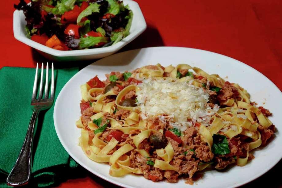 Holiday pasta with tuna sauce. (Handout/TNS)
