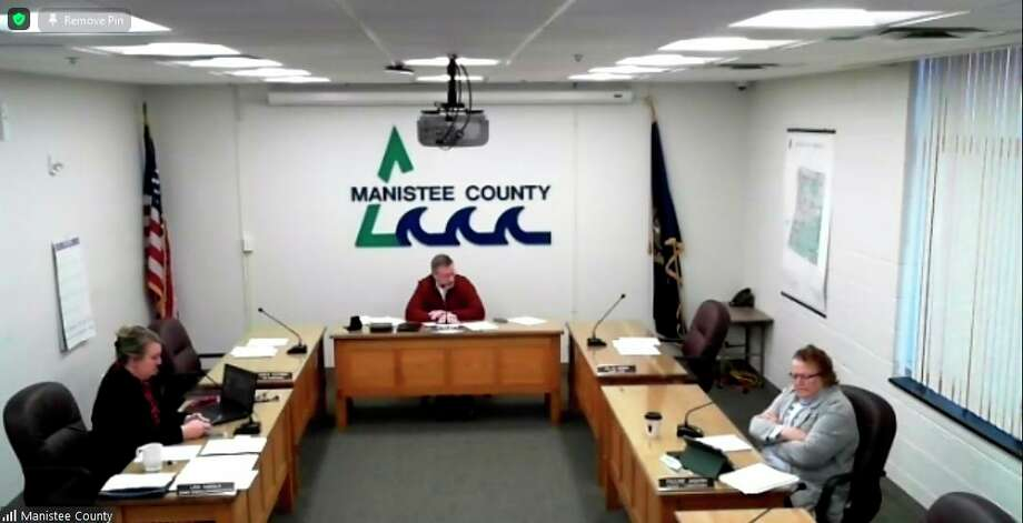 The Manistee County Board of Commissioners recognized milestones for some of the county's longest tenured employees during its regular meeting in December. (Zoom screenshot)