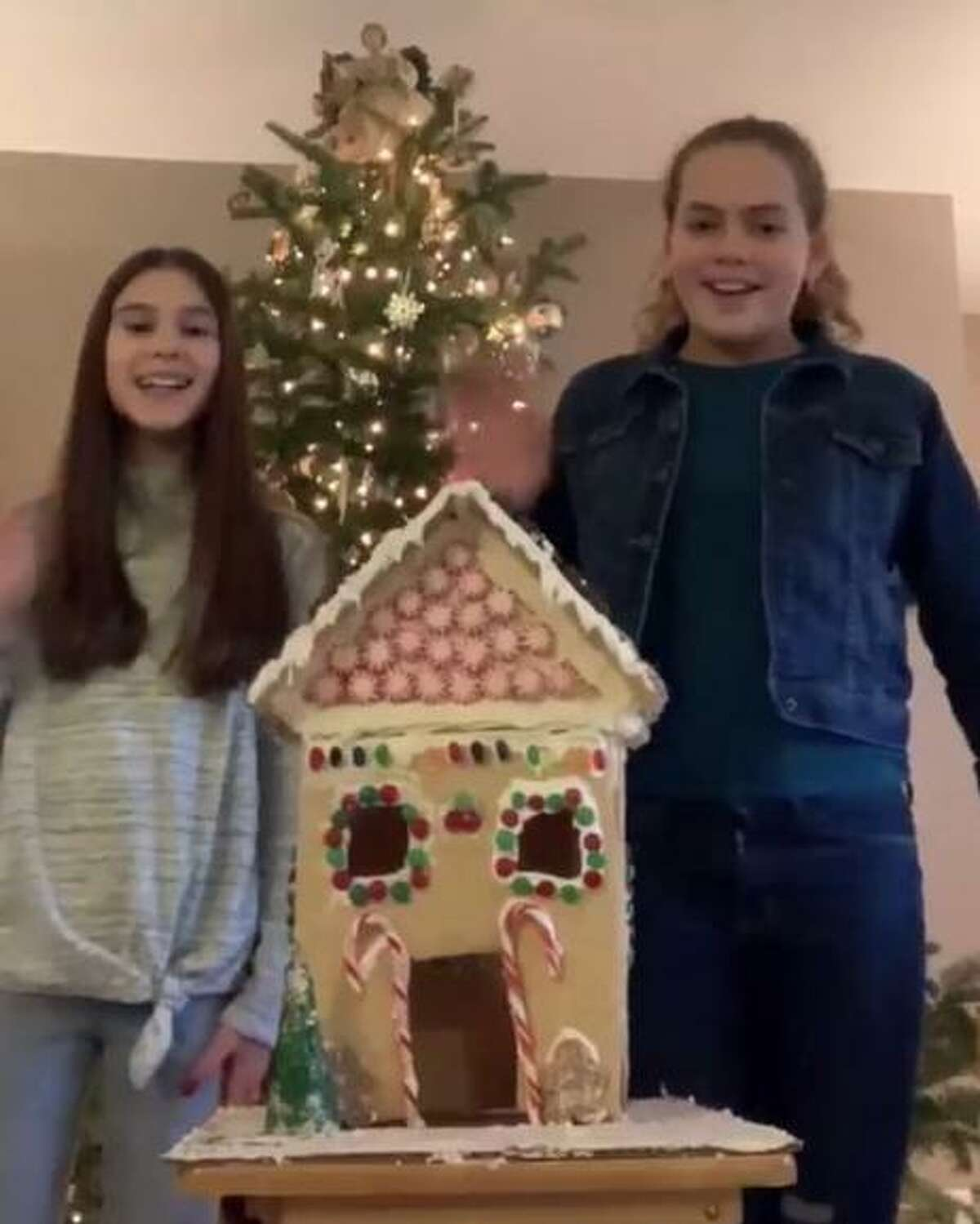 The Warner Theatre recently announced the winners of its gingerbread house contest. Above are Vivian B. and Mary O, runners-up.