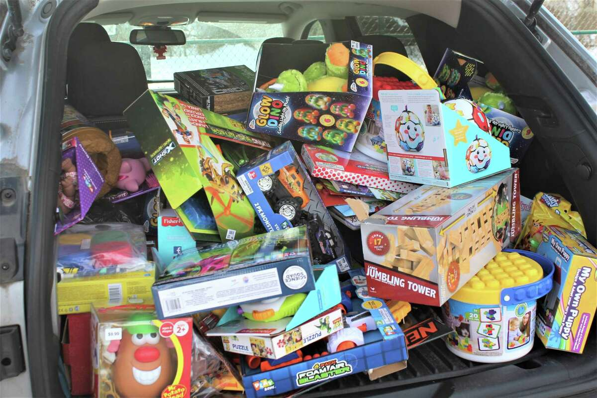 The Knights of Valhalla held a successful toy giveaway at Macdonough Elementary School in Middletown, courtesy of generous donations from the public despite the hardships imposed by the pandemic.