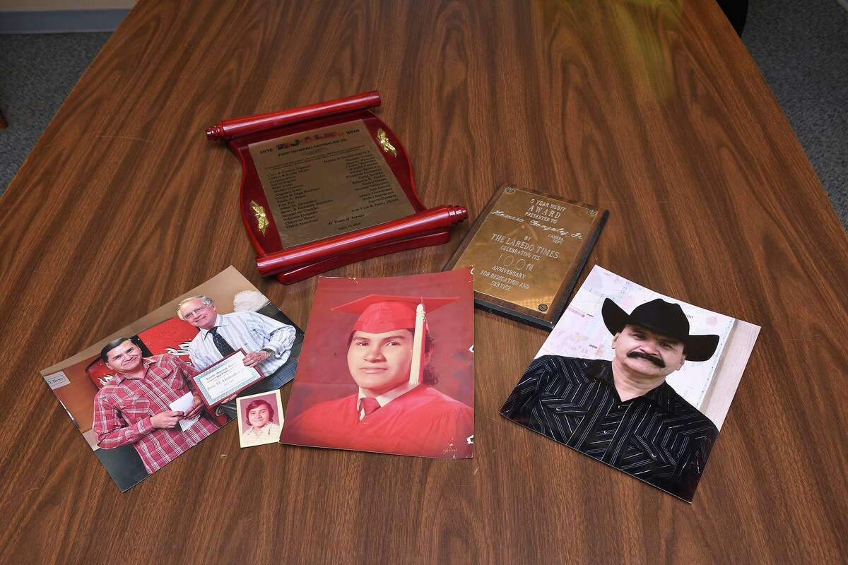 A collage of photos and recognitions of the late Jose Homero Gonzalez Jr.