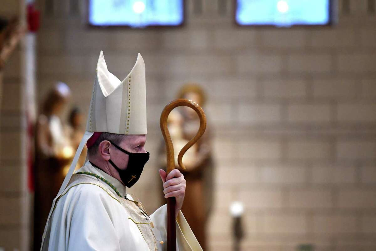 """Bishop Edward Scharfenberger is opposed toa rule banning all pro-choice politicians from receiving the Eucharist. """"It would just cut people off. That's not how we do our faith. It's a faith of accompaniment,"""" he said. """"We're not there to judge other people. Only God can do that."""""""