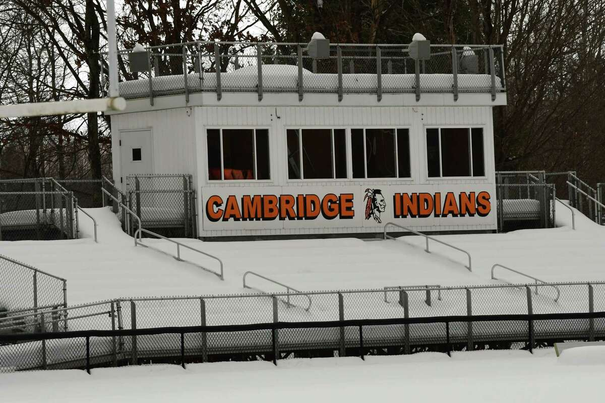 Football field at Cambridge High School on Tuesday, Dec. 22, 2020 in Cambridge, N.Y. (Lori Van Buren/Times Union)