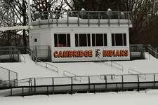 Football field at Cambridge High School on Tuesday, Dec. 22, 2020 in Cambridge, N.Y. (Lori Van Buren/Times Union)