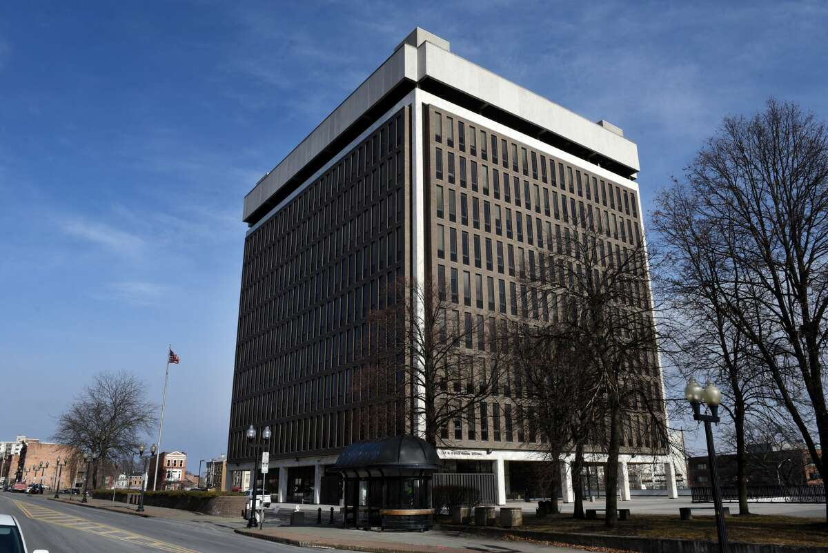 Exterior of the Leo W. O'Brien Federal Building in Albany, N.Y. (Will Waldron/Times Union)