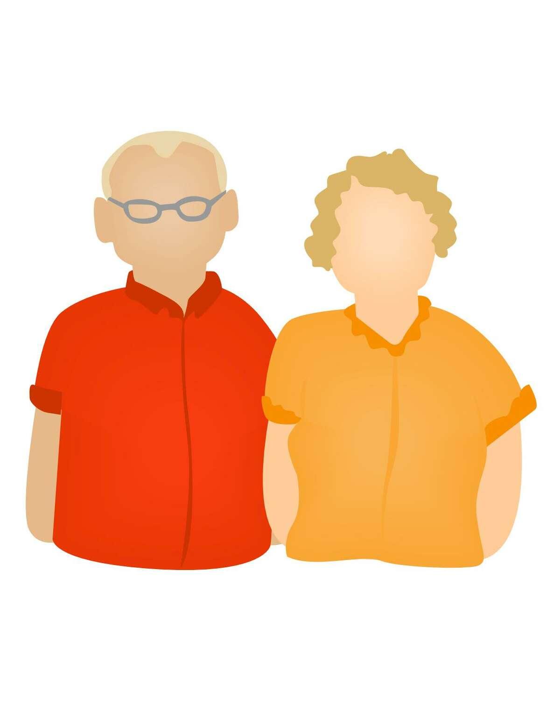 GrandParents Icon, people; ELDERLY; SENIOR CITIZENS; ELDERLY COUPLE