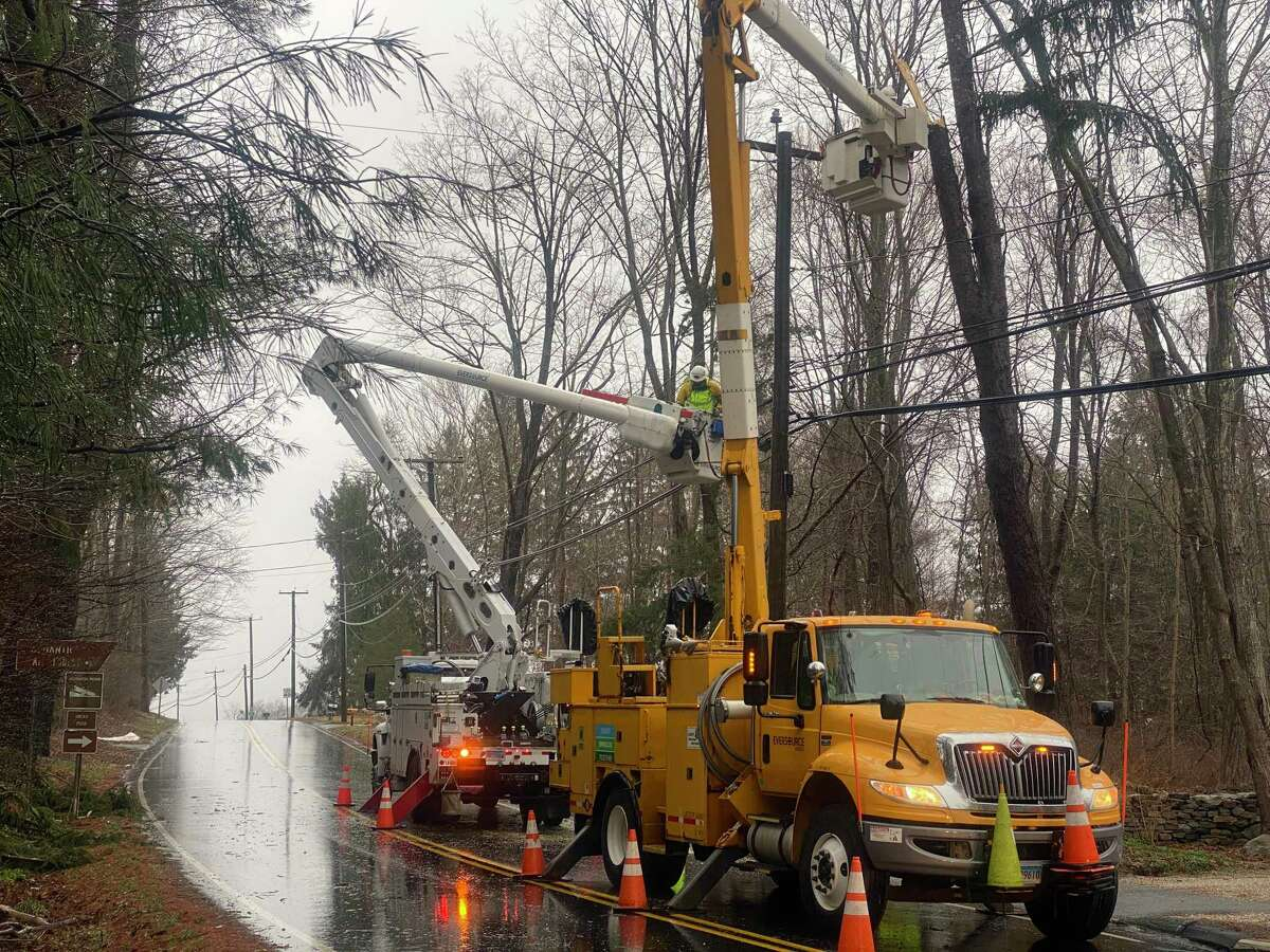 Eversource said Saturday afternoon that it expects most customers without electricity will have power restored by 8 p.m. on Dec. 26, 2020.