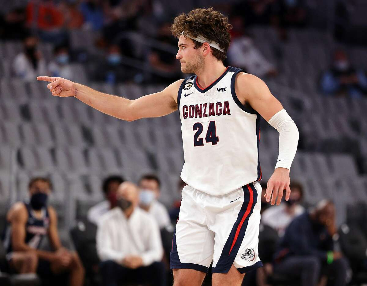 Gonzaga's Corey Kispert poured in 32 points while tying a school record with nine 3-pointers in his team's victory over Virginia in Fort Worth, Texas. He is averaging 22.4 points per game.