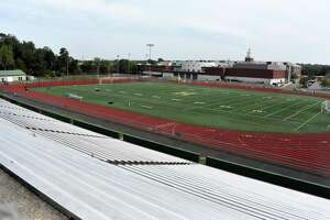 Joe F. Bruno Field at Hamden sits empty.