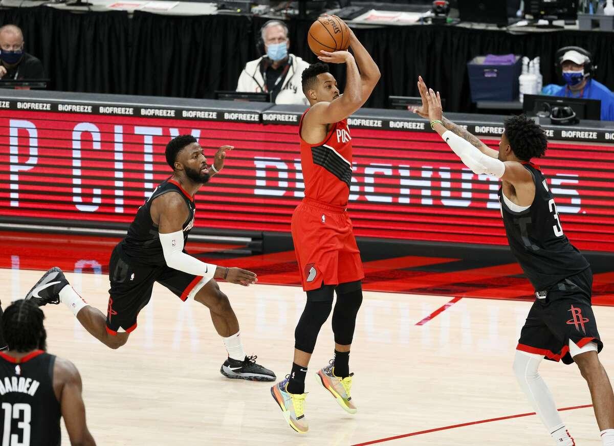 Dec. 26: Trail Blazers 128, Rockets 126 (OT) Point leaders Rockets: James Harden (44) Trail Blazers: C.J. McCollum (44) Record: 0-1