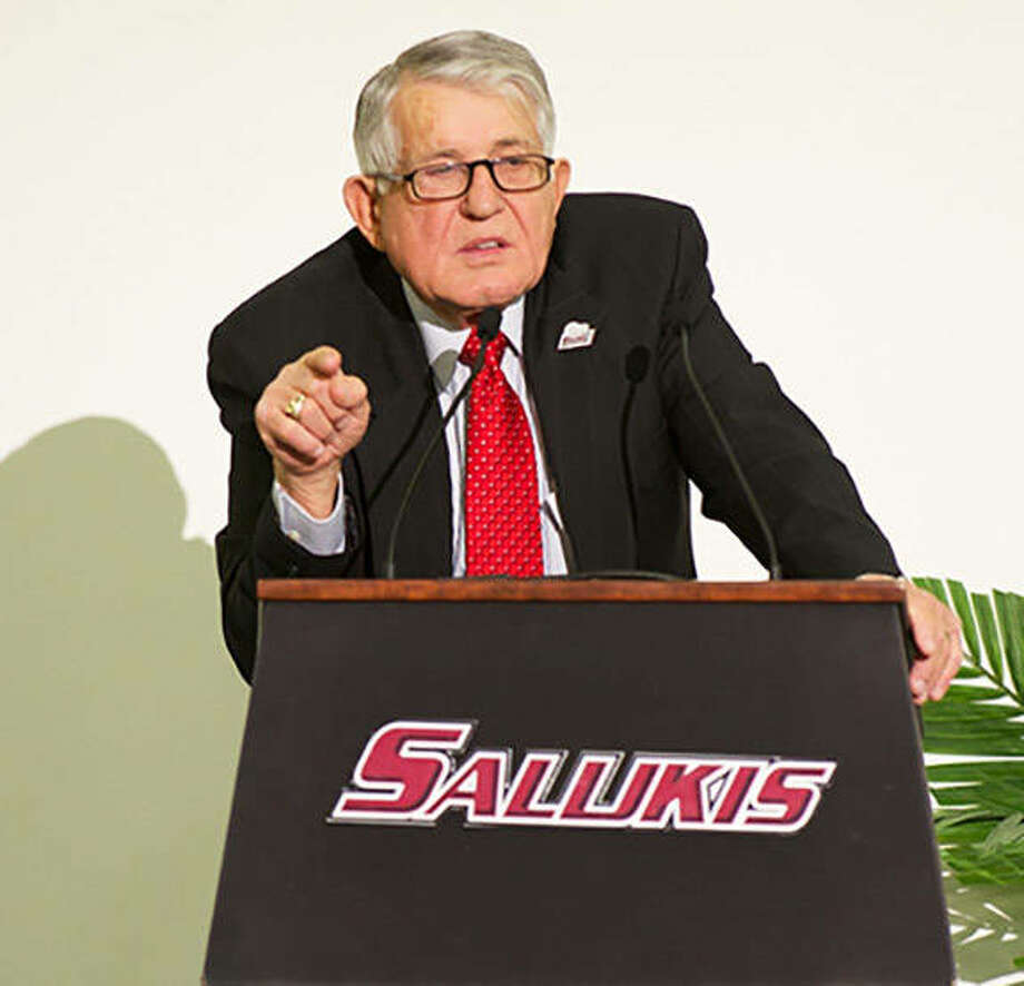 Former SIU basketball coach Rich Herrin, also a high school coaching legend in Southern Illinois, died Christmas night at age 87. Photo: SIU Athletics