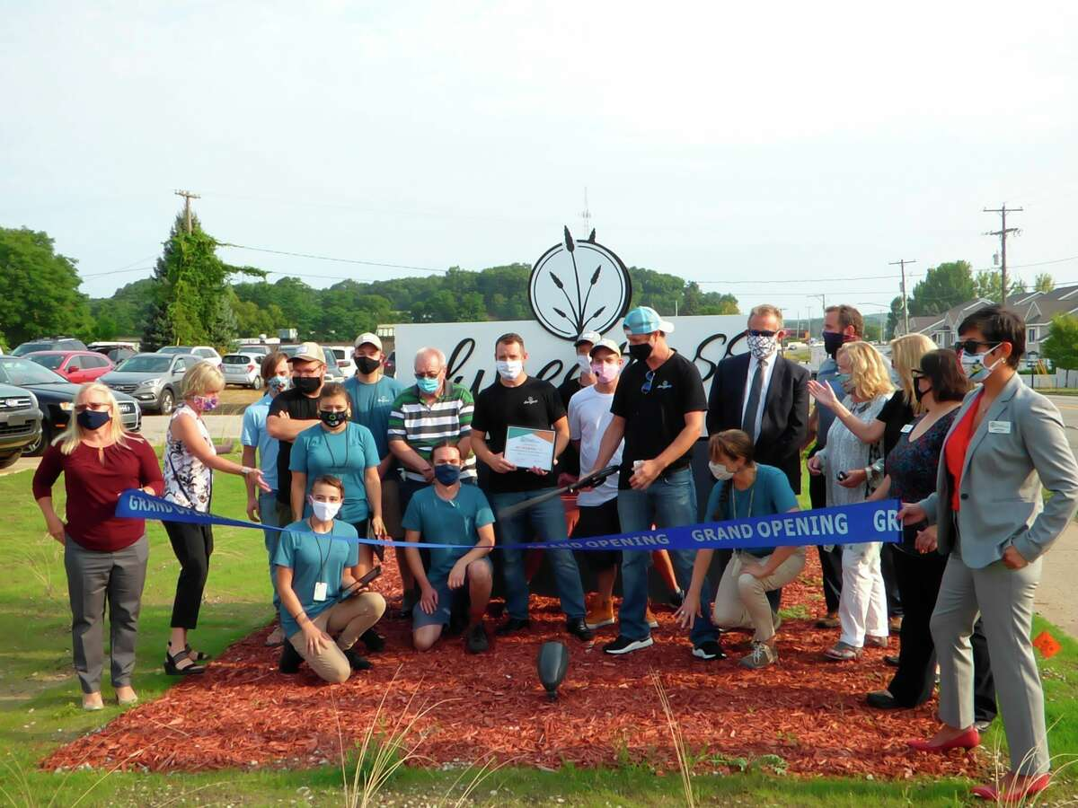 Dunegrass was the first marijuana retailer to open in Manistee. It hosted a ribbon-cutting ceremony on Aug. 27. (File photo)