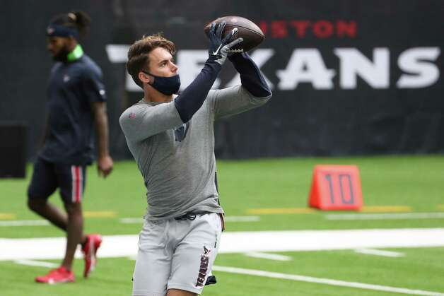 Houston Texans wide receiver Chad Hansen warms up before an NFL football game at NRG Stadium on Sunday, Dec. 27, 2020, in Houston. Photo: Brett Coomer, Staff Photographer / © 2020 Houston Chronicle