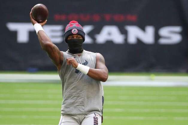Houston Texans quarterback Deshaun Watson warms up before an NFL football game at NRG Stadium on Sunday, Dec. 27, 2020, in Houston. Photo: Brett Coomer, Staff Photographer / © 2020 Houston Chronicle