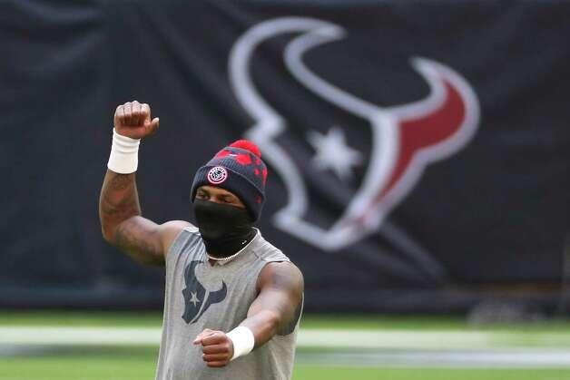 Houston Texans quarterback Deshaun Watson dances while warming up before an NFL football game at NRG Stadium on Sunday, Dec. 27, 2020, in Houston. Photo: Brett Coomer, Staff Photographer / © 2020 Houston Chronicle