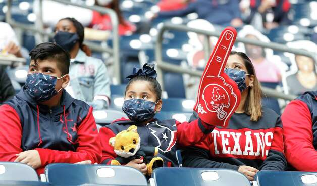 Houston Texans fans during the first quarter of an NFL football game at NGR Stadium, Sunday, December 27, 2020, in Houston. Photo: Karen Warren, Staff Photographer / © 2020 Houston Chronicle