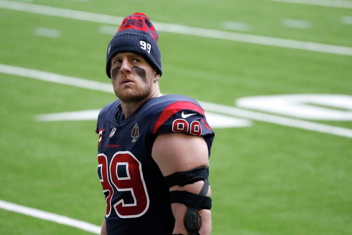 Houston Texans defensive end J.J. Watt is the latest Houston star to depart.