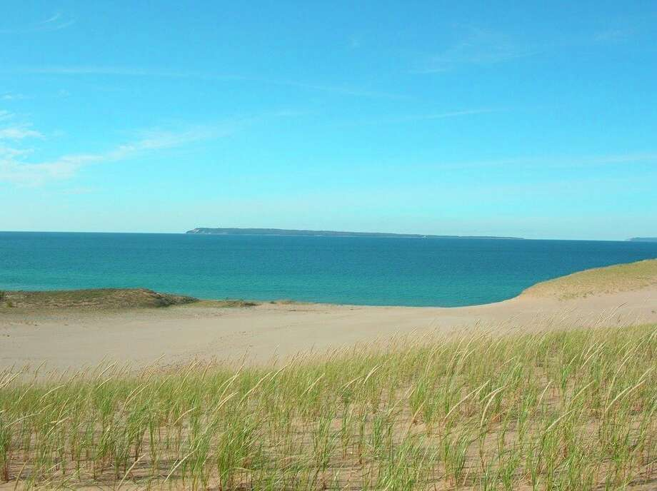 This photo shows a view of Manitou Islands from Sleeping Bear Point Trail. (Courtesy photo/National Park Service)