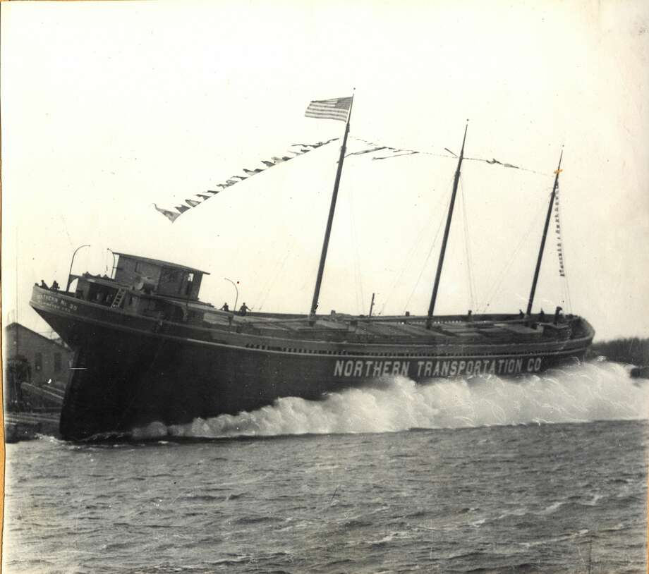 The NORTHERN #35 was launched in Manistee on May 13, 1920. The vessel was the last one constructed by the Manistee Shipbuilding Co. which would cease operations later that year. Photo: Manistee County Historical Museum / Copyright 2020, Manistee County Historical Society, Inc.