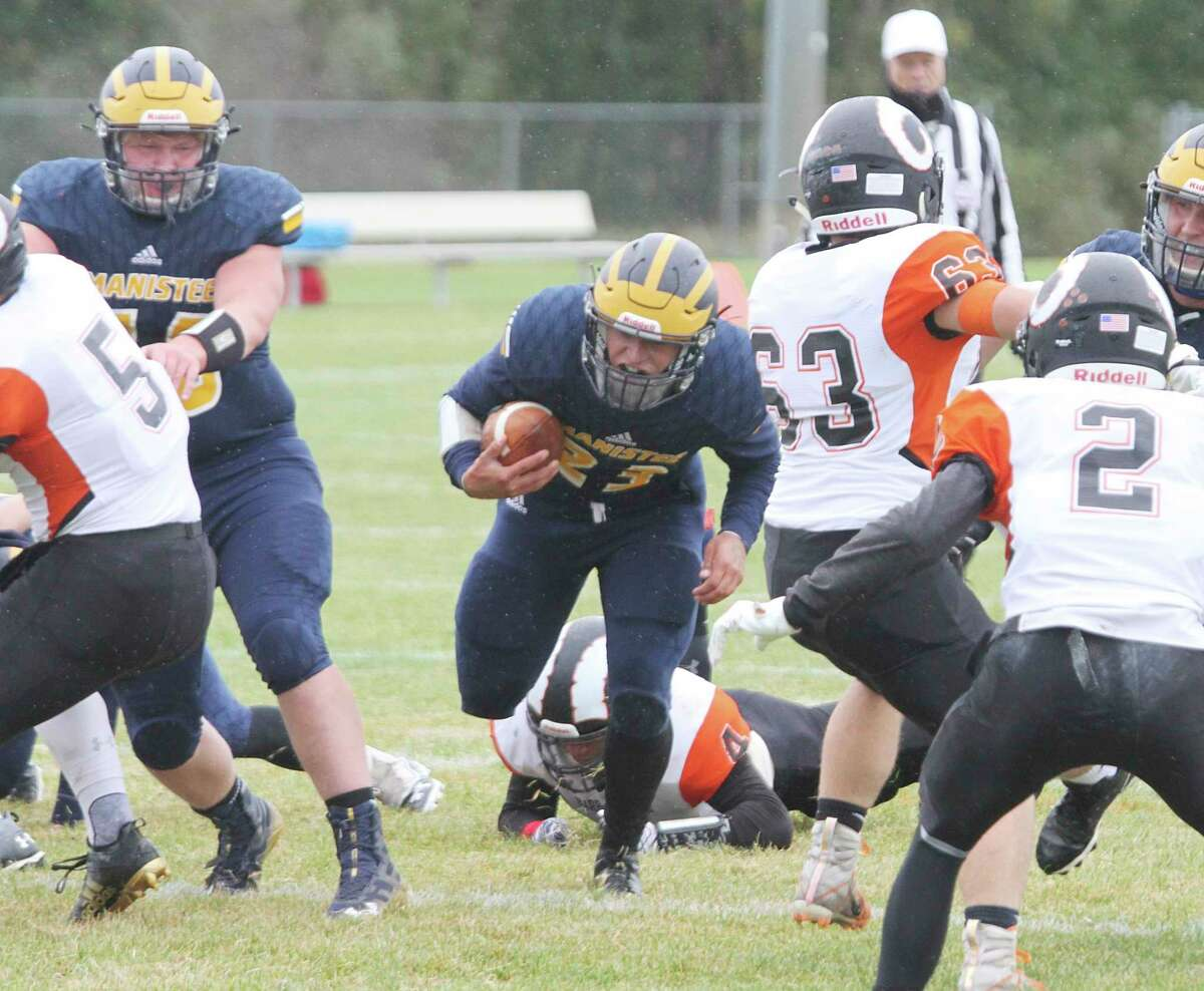 Manistee senior Landen Powers was named first team All-State as a punter in Division 5-6 football. (News Advocate file photo)