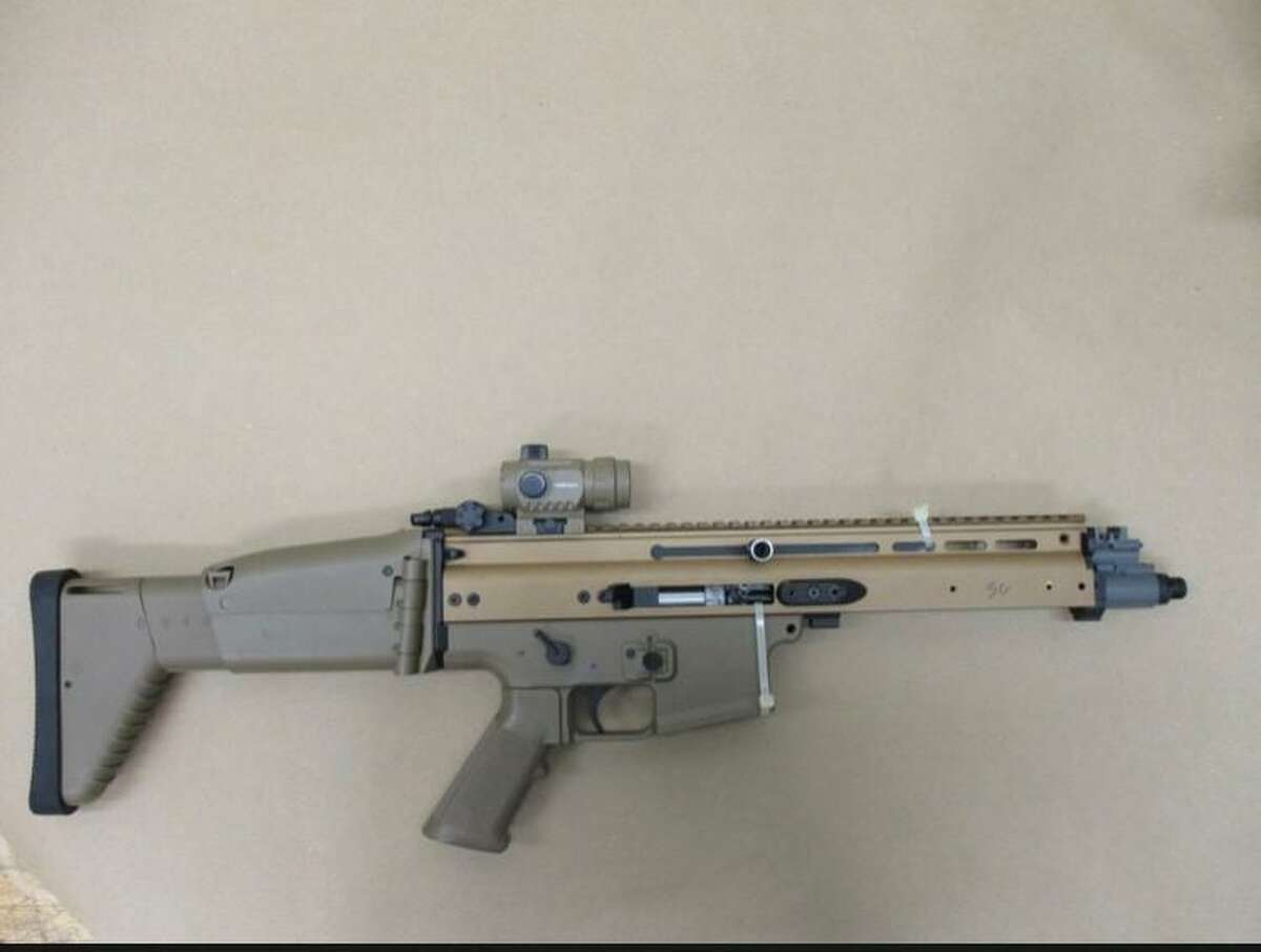 The rifle carried by the person killed by police in a Saturday night incident in Hartford.
