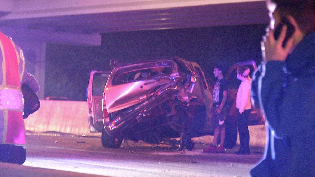 Street racers may have caused an 8-car pileup on the Northwest Side on Sunday night,San Antonio police said.