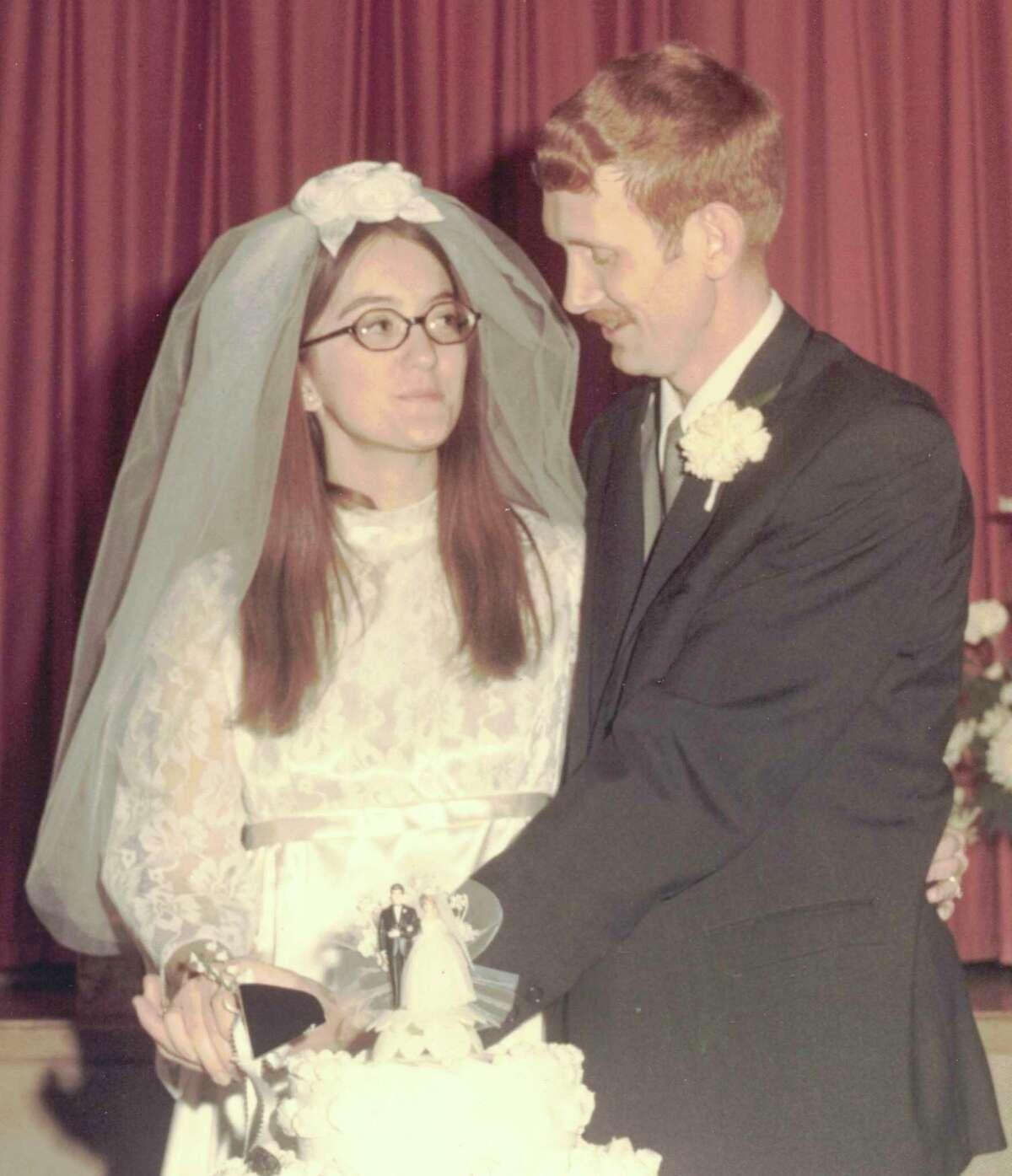 Helen Jane Wolfe and Roger Scott Dewey were married on Dec.27, 1970, at First Presbyterian Church in Harrisburg, Pennsylvania. (Courtesy photo)