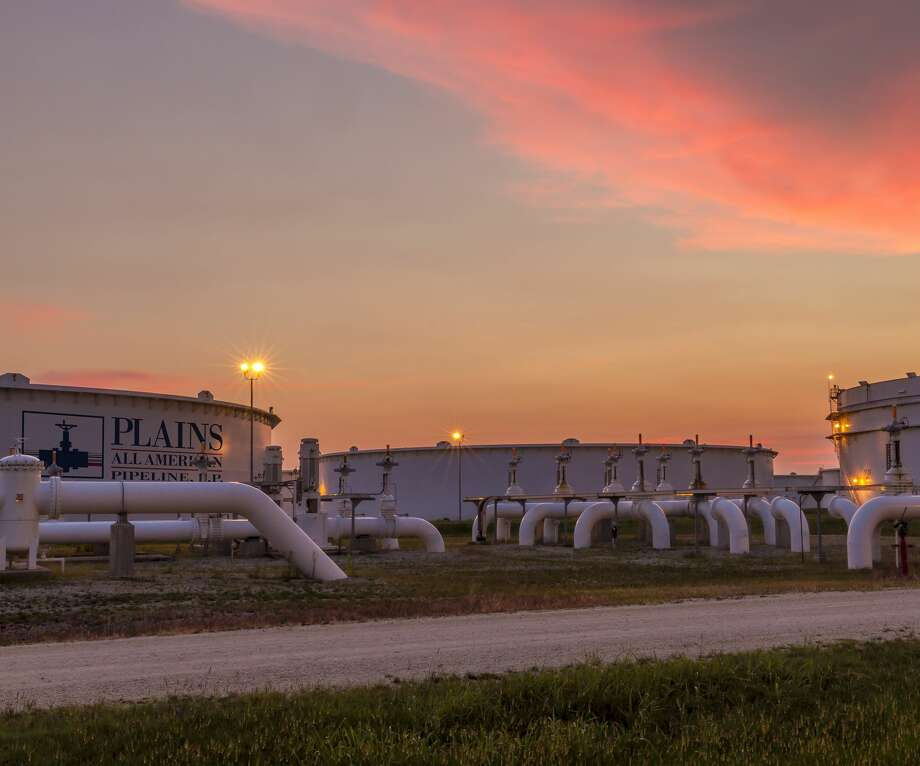 Deloitte's Oil and Gas Industry Outlook 2021 finds oil supplies uncertain beginning in 2025 because of a decline in exploration spending, meaning storage tanks could be emptier five years from now. Photo: Plains All American Pipeline