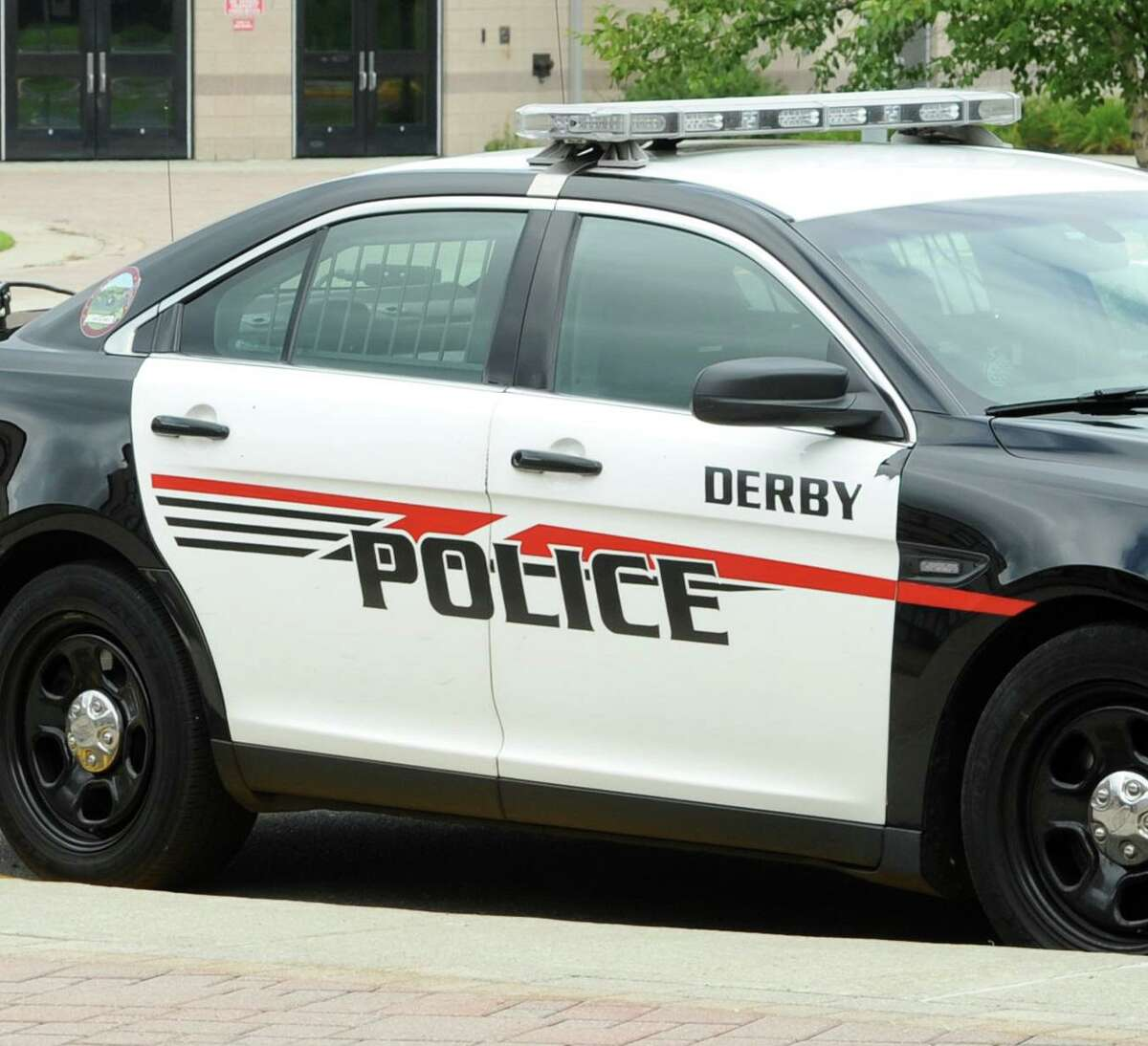 Derby police carin Derby, Conn. on Monday August 20, 2018.