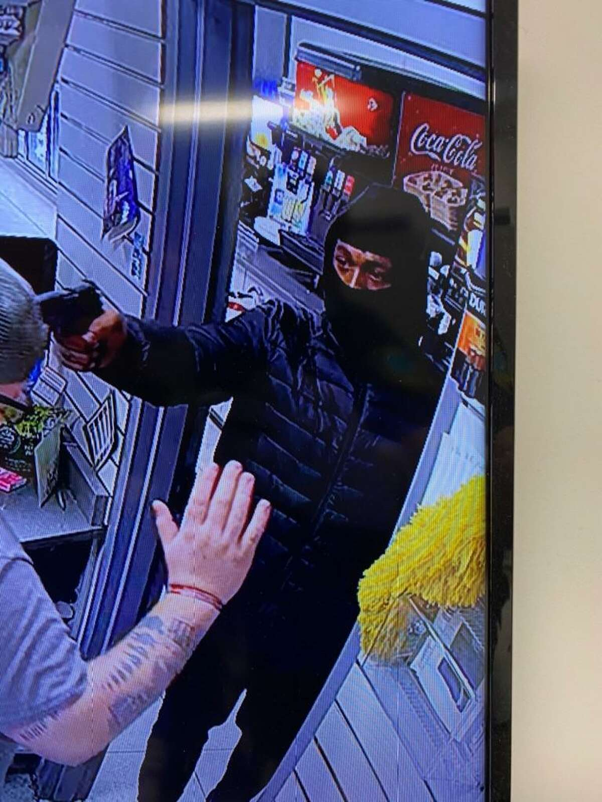 East Haven police are seeking information on this man in connection with an alleged armed robbery at the Forbes Gas Station at 863 North High St.