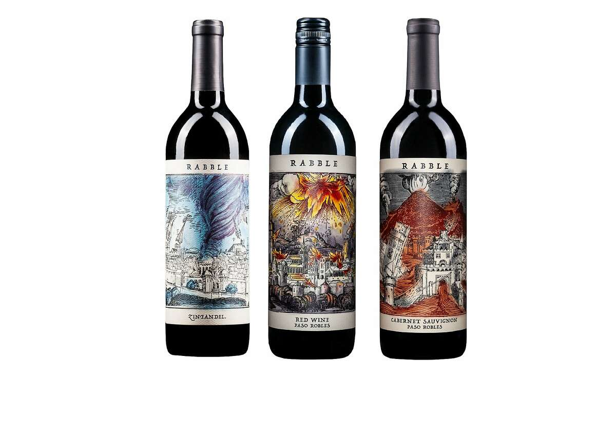 Rabble Wines' labels are lifted from the Nuremberg Chronicle, an illustrated encyclopedia from the 1400s, and have an augmented-reality component.