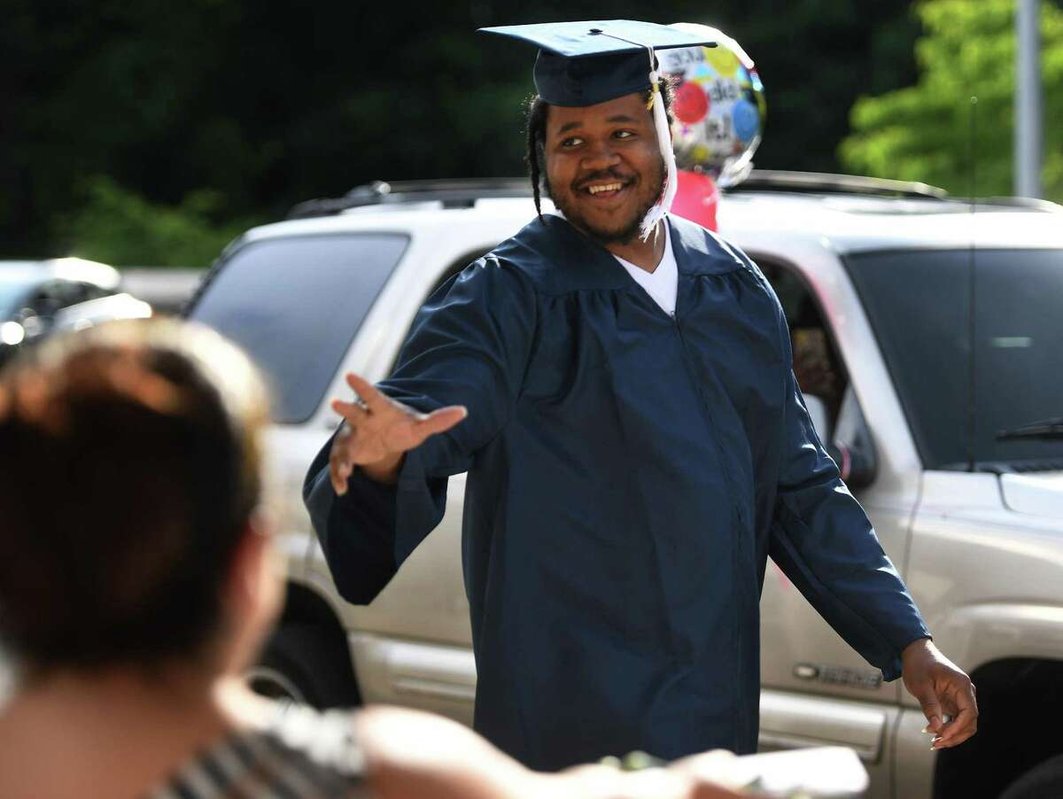 The Bridgeport Adult Education Graduation at Central High School in Bridgeport, Conn. on Monday, June 29, 2020.