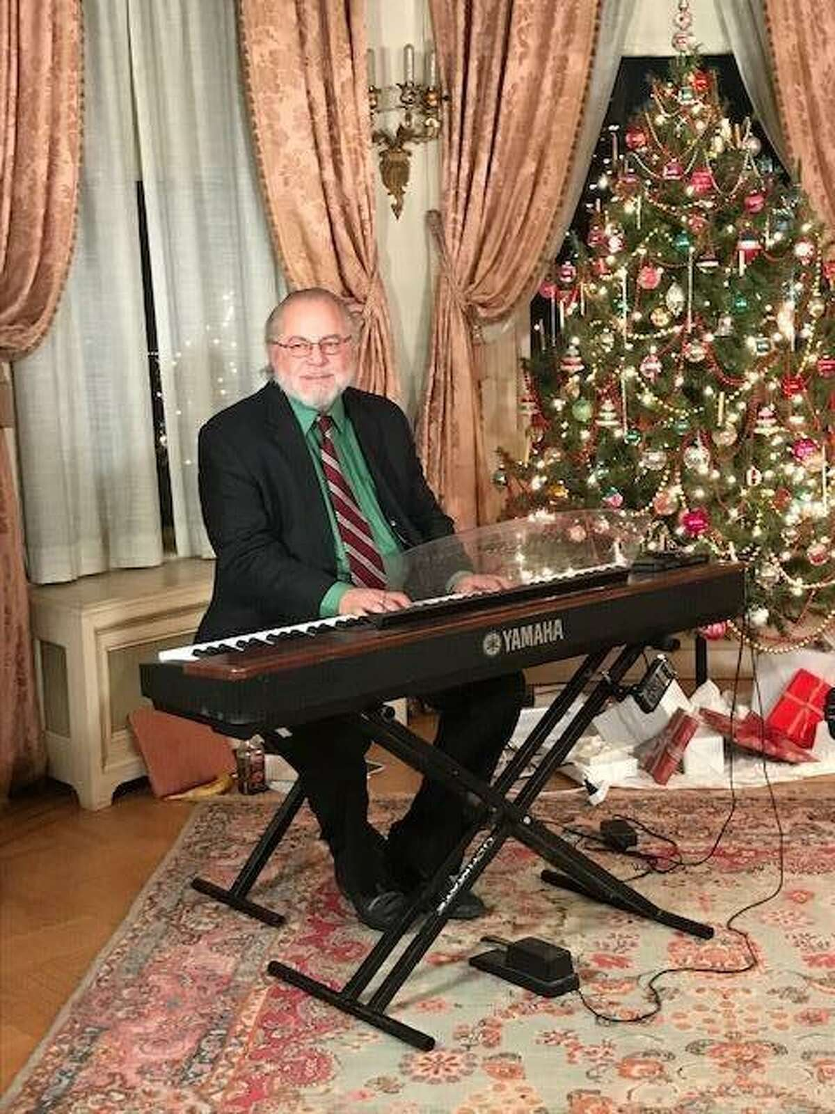 The Torrington Historical Society is presenting free storytelling and music videos on its YouTube channel, just in time for the holiday season. Above, pianist Alan Simon is performing on YouTube.