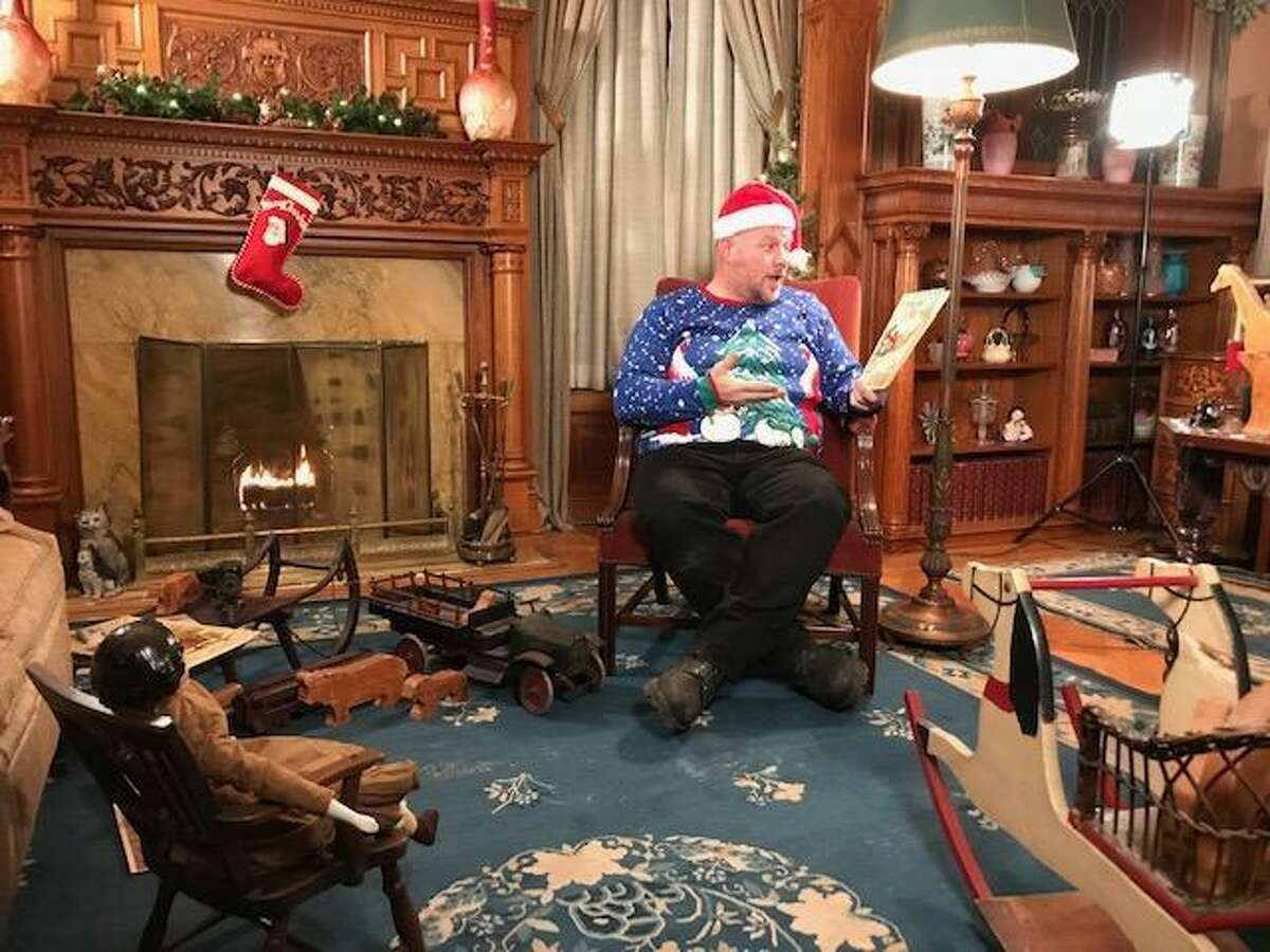 The Torrington Historical Society is presenting free storytelling and music videos on its YouTube channel, just in time for the holiday season. Above, Keith Paul reads