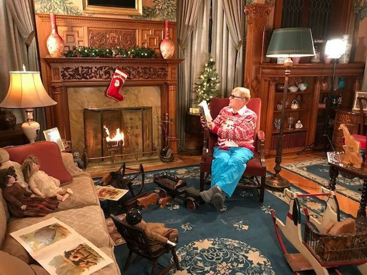 The Torrington Historical Society is presenting free storytelling and music videos on its YouTube channel, just in time for the holiday season. Above, Cheryl Rossi reads